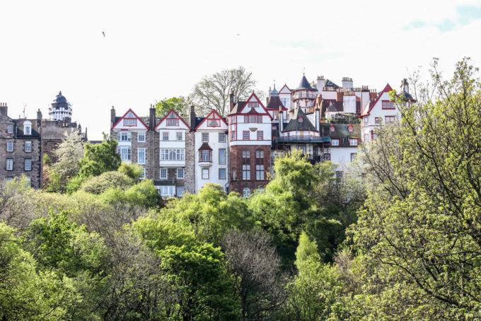 Widok na starówkę Edynburg