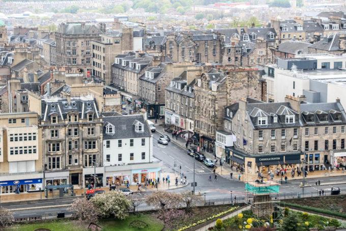 Widok z zamku Edynburg