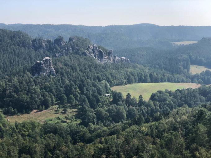 Panorama z punktu widokowego Saskiej Szwajcarii