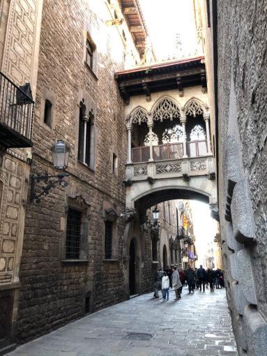 Most Westchnień dzielnica gotycka Barcelona