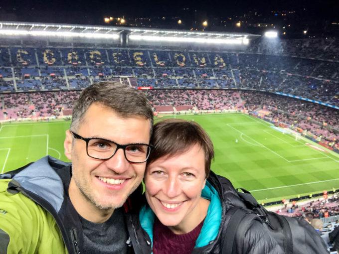 Na meczu FC Barcelona