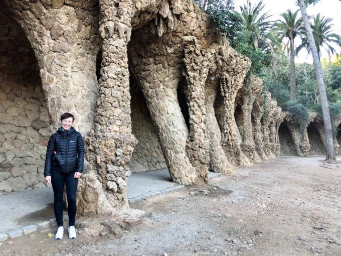 Park Guell Barcelona kolumny