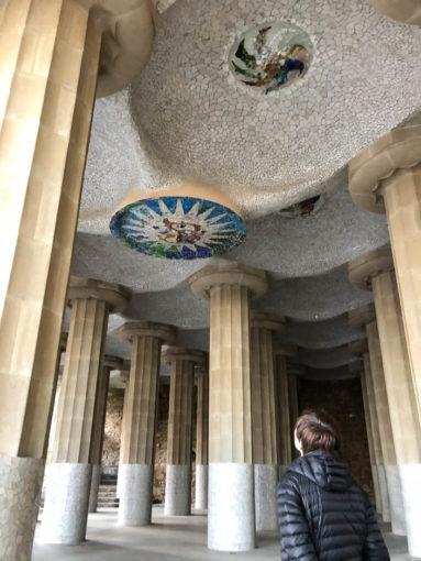 Park Guell Barcelona kolumny i mozaiki