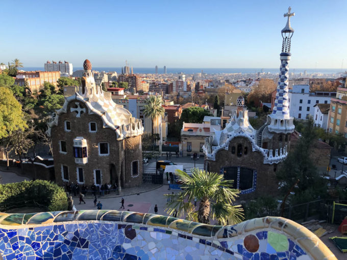 Park Guell Barcelona panorama