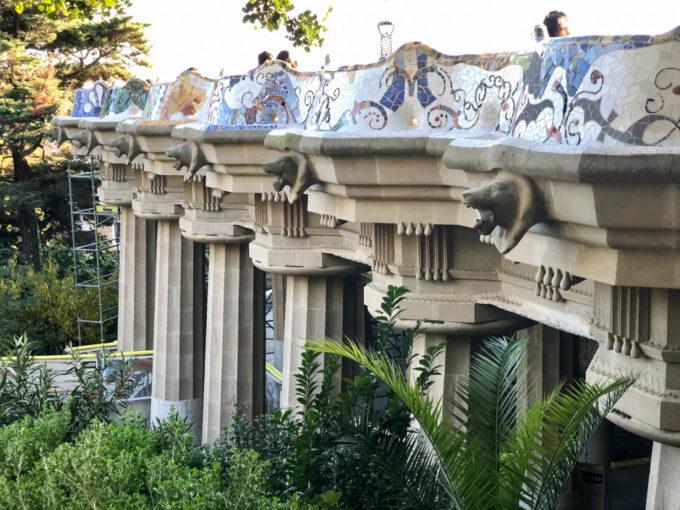 Park Guell Barcelona rzeźby