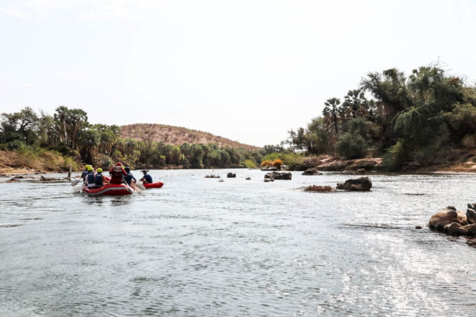 Rafting po rzece Kunene