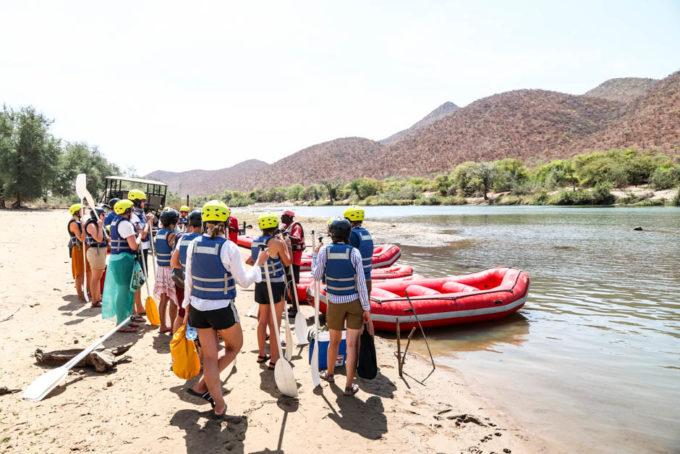 Rafting po rzece Kunene przygotowanie