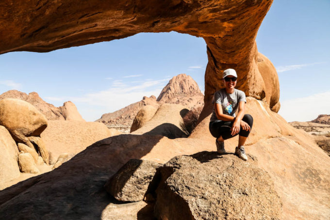 Rock Arch Spitzkoppe pod