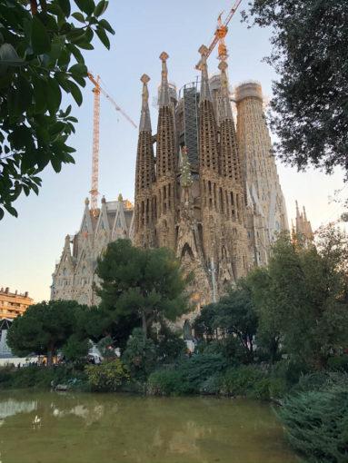 Sagrada Familia jeszcze raz z parku