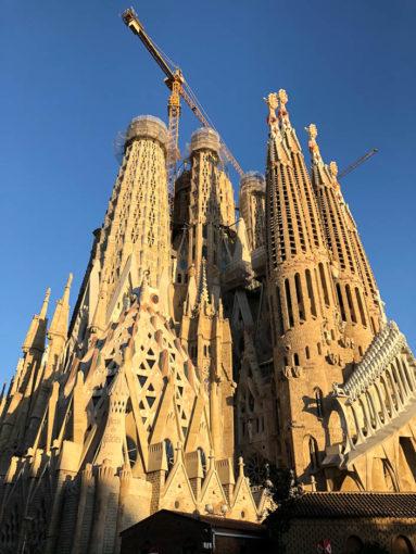 Sagrada Familia o zachodzie słońca