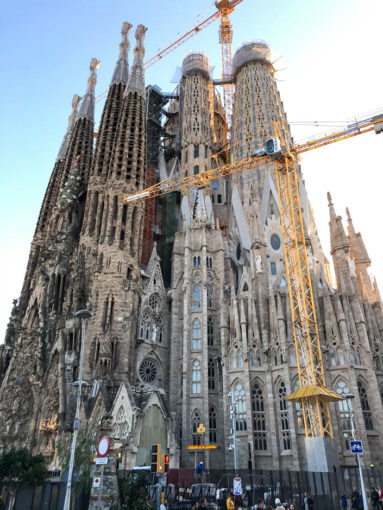 Sagrada Familia plac budowy