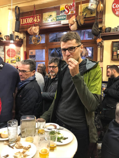 Tapas w El Xampanyet Barcelona