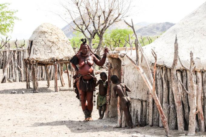 Wioska Himba chatka wodza