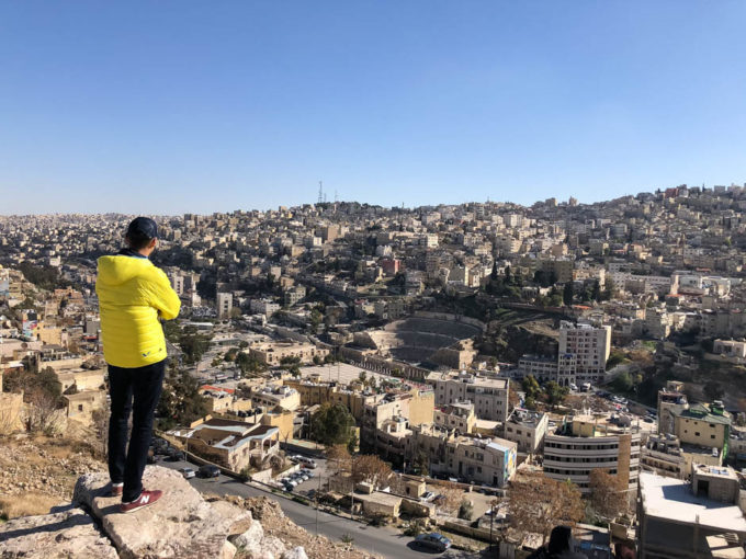 Amman panorama z cytadeli na centrum