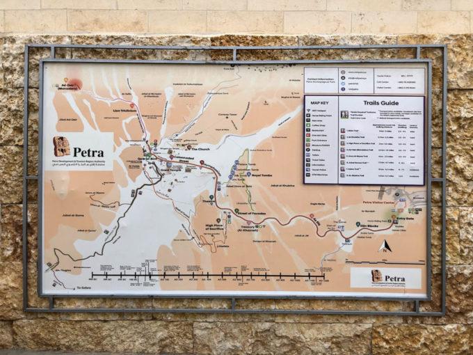 Petra Jordania mapa