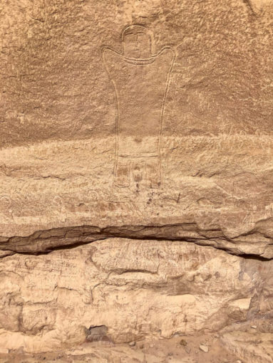 Wycieczka jeepami Wadi Rum malowidła naskalne